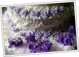 Accent the wedding cake with flowers from Dundalk Florist