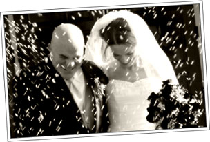 Happy Bride and Groom, Weddings from Dundalk Florist