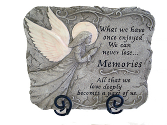 Memories Stone Plaque