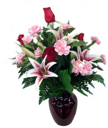 DFF276 Loving Lily Vase Arrangement