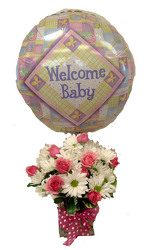 DFF323 Welcome Joy Baby Girl Bouq.