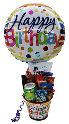 HBSNCK Happy Birthday Snack Pail Filled With Snack Foods