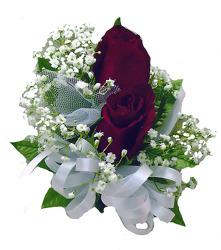 P3-2 Double Red Rose Corsage