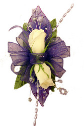 DP78 Two Sweetheart Rose Corsage