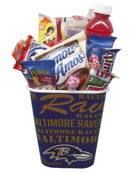RAVSNCK Raven's Container filled with Snack Foods