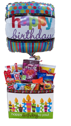 SNCKBB Snack Birthday Box w/Balloon