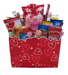 SNCKVB Valentines Sweetest box filled with snack foods