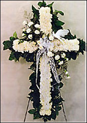 Elegant White Standing Cross