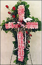 Beautiful Pink Standing Cross