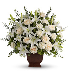 T216-1A  Loving Lilies and Roses Bouquet