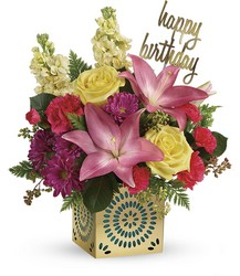 T602-2A Blooming Birthday Bouquet