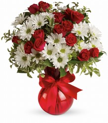 TEV23-2A Red White And You Bouquet